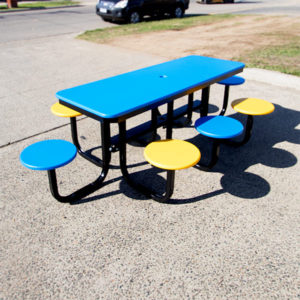 Rectangle Satellite picnic table