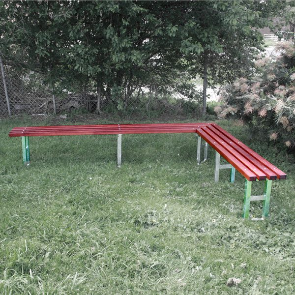 SLIM TIMBER CLAD BENCH