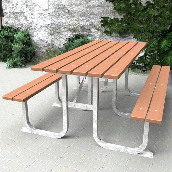 Standard picnic table