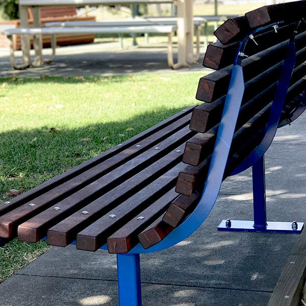 Curved Timber Park Seat