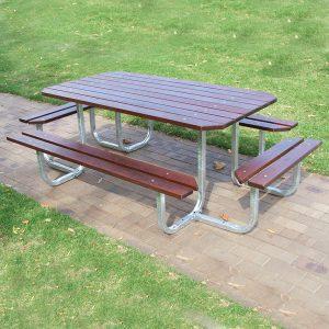 Large Magnum Picnic Table Aluminium