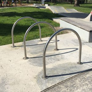 Curved Stainless Steel Bike Hoop