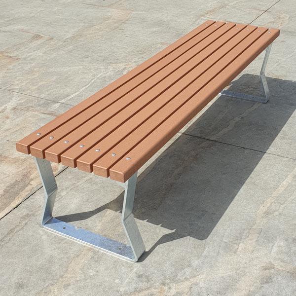 Kiama Freestanding Bench - Composite Battens