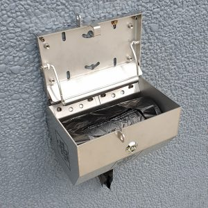 316 stainless steel bag dispenser - roll weight