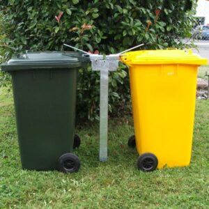 Double Wheelie Bin Post