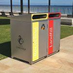 Stainless steel garbage bin enclosure
