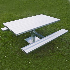 Heavy Duty Picnic Table (long) Aluminium