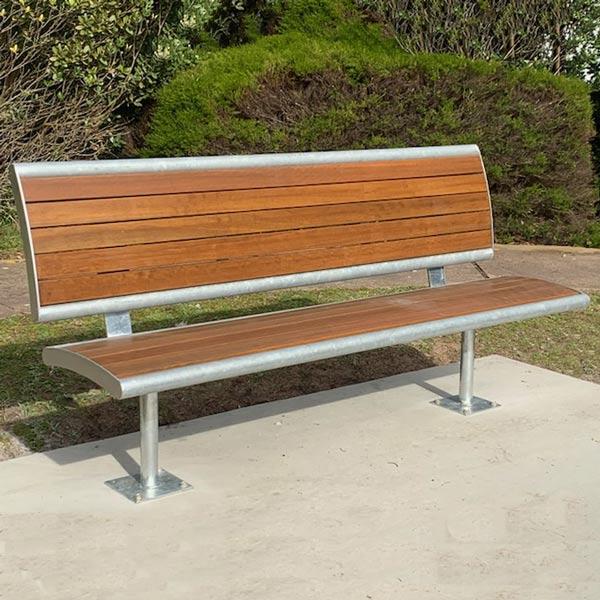 Monbulk Park Seat with back