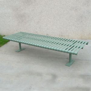 Heavy Duty Steel Slatted Bench Seat