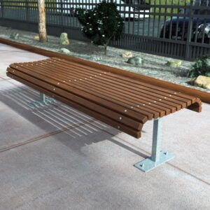Park Bench with rounded profile