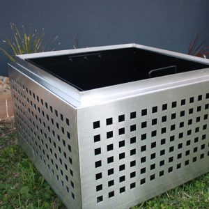 Melbourne planter, all stainless steel