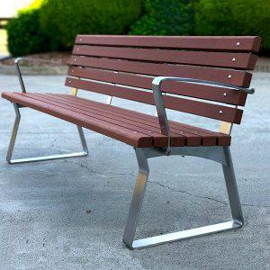 Kiama Street Seat with armrests