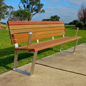 Commercial Outdoor Seat with back