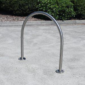 Curved Stainless Steel Bike Hoop