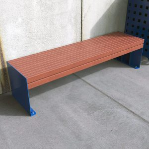 Outdoor Bench with Enviroslat Battens, Powdercoated frames