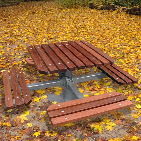 Heavy Duty Pedestal Picnic Table Timber
