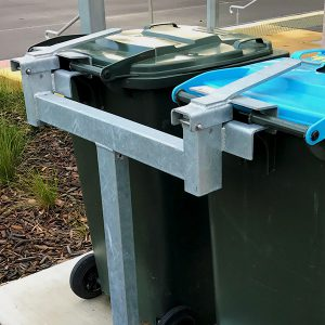 Dual Station Wheelie Bin Post