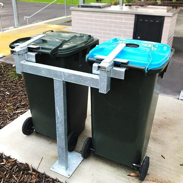 Dual Station Wheelie Bin Post