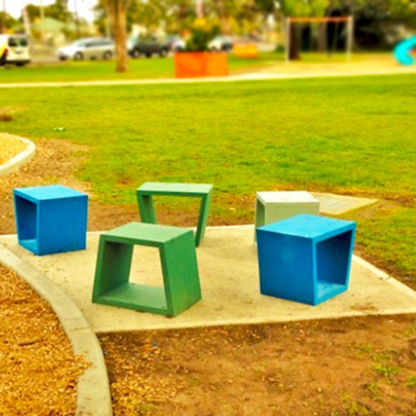 Eco pod recycled plastic bench seats