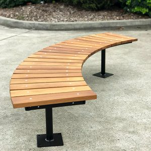 Fawkner Curved Timber Bench Seat
