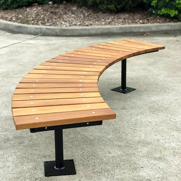 Groovy Fawkner Curved Timber Bench Seat Draffin Alphanode Cool Chair Designs And Ideas Alphanodeonline