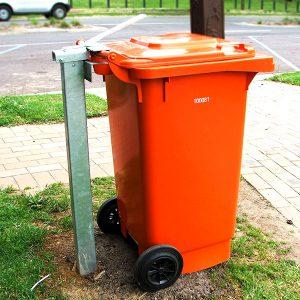 Single Wheelie Bin Post