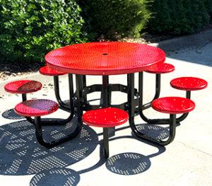 Mild steel round picnic setting