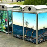 1500 Series vinyl wrapped bins