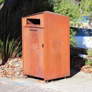 All weathered steel bin surround