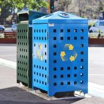 Bin with laser cut recycle logo