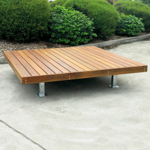 Spotted gum battens and galvanised steel frame