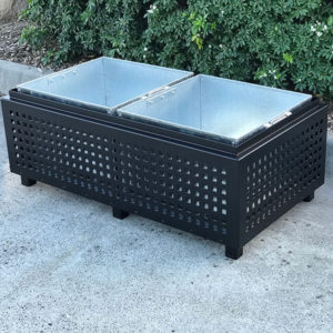 Powdercoated Cafe Planter Box with Perforations