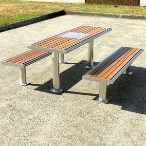 Admirable Table Settings Outdoor Dining Furniture For Parks Draffin Ibusinesslaw Wood Chair Design Ideas Ibusinesslaworg