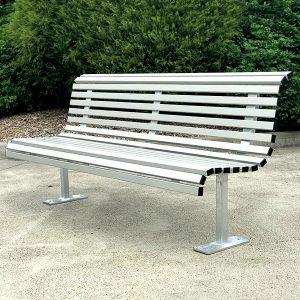 Curved Park Seat Aluminium