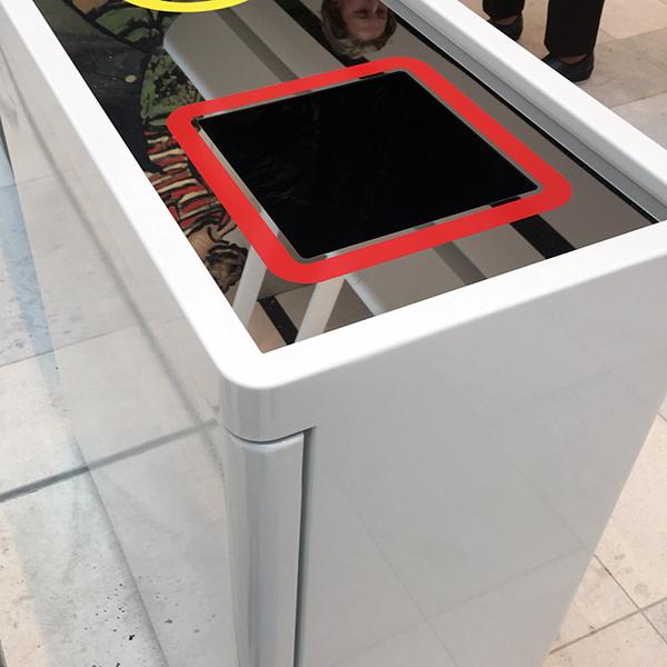 Dual Internal Recycling Bin