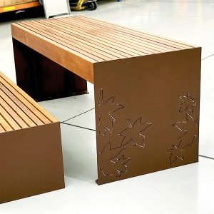 Hobart table setting with laser cut design
