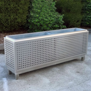 Stainless Steel Cafe Planter Box with Perforations