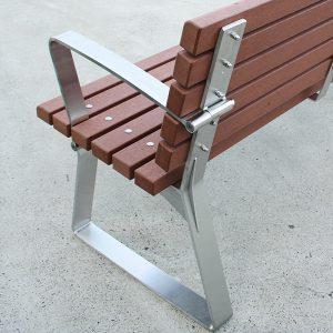 Park Seat, Stainless steel frames and Enviroslat battens