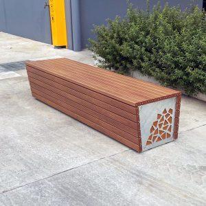 Timber-Look Battens, Corten and galvanised mild steel