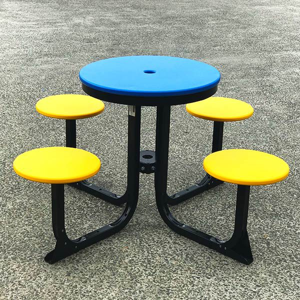 Four Seat Satellite Cafe Table Setting