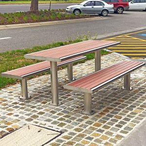 All weather commercial picnic table