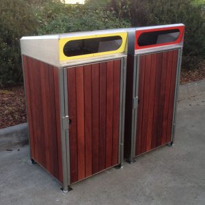 900 Series Pyramid/Flat -Timber Clad Bin Surrounds