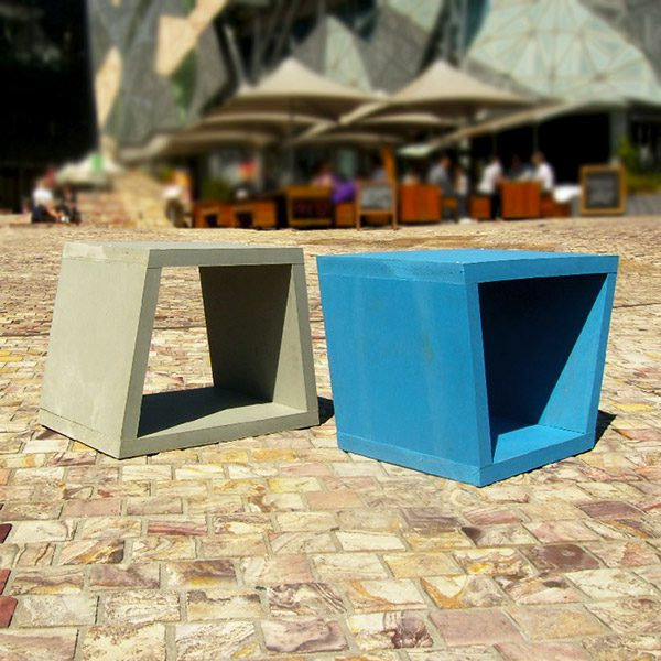 Eco Pod seats made from recycled plastic