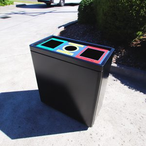 Triple Tub Internal Recycling Bin
