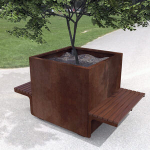 Weathering steel and spotted gum