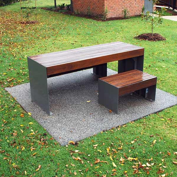 Powder coated Hobart table setting