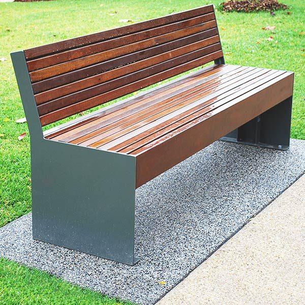 Hobart powder coated seat with back