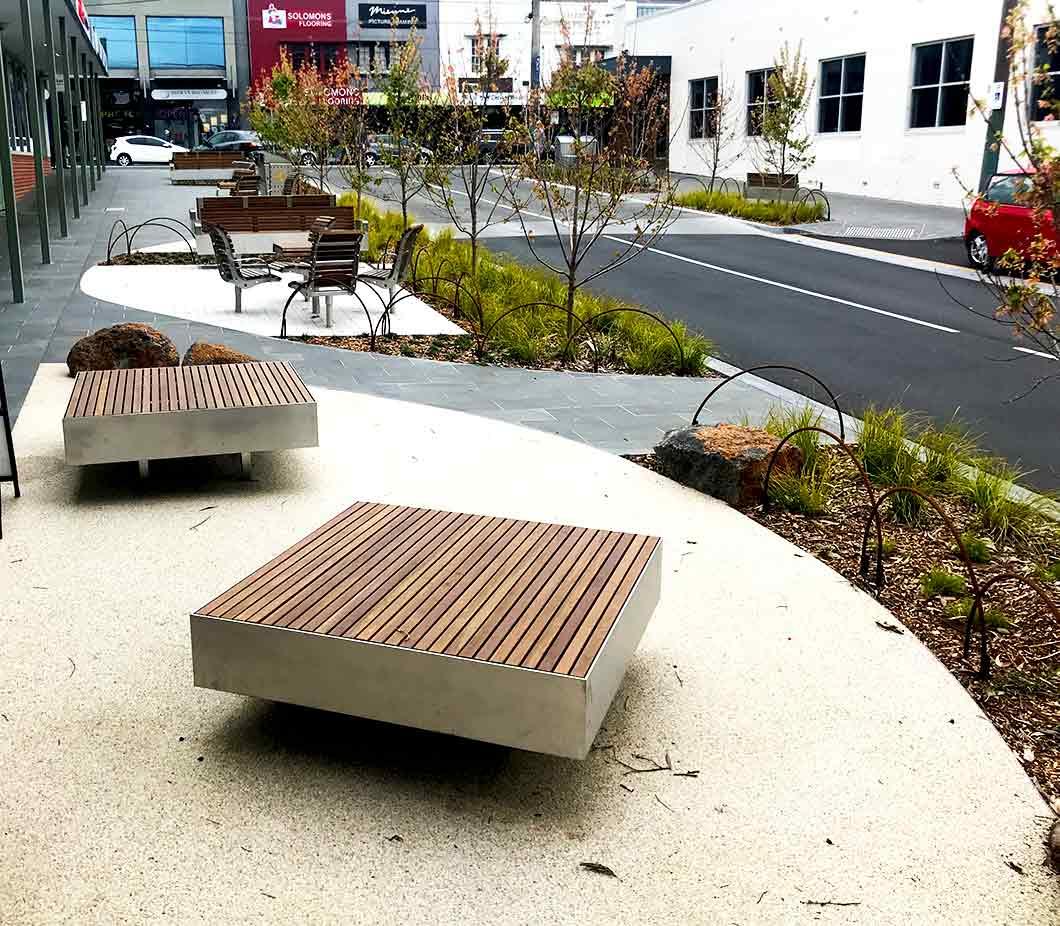 Custom Boroondara platform seats