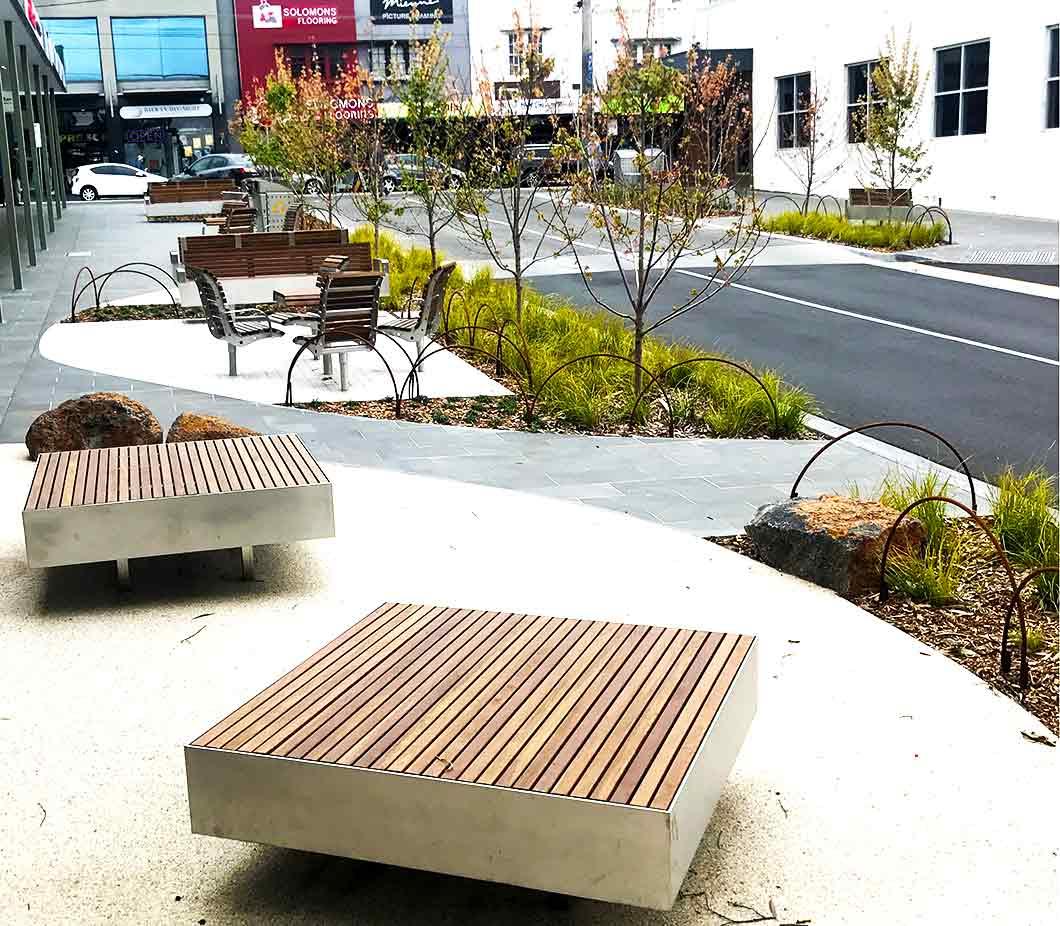 Custom platform bench