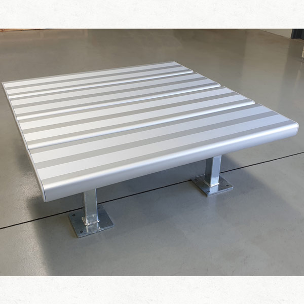 Square Aluminium Bench